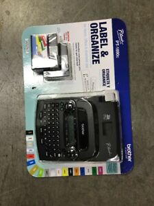 New Brother P touch Pt 1890c Label Maker System With Bonus 6 aa Batteries