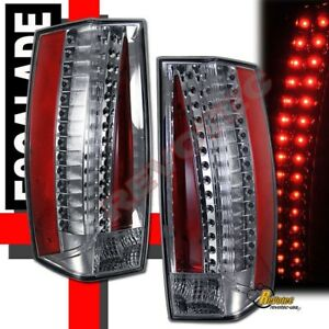 07 11 Cadillac Escalade Chrome Led Tail Lights Lamps 1 Pair