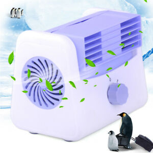 1x 12v Air Conditioning Fan 2 Speed Adjustable Silent Blower For Car Truck Boat