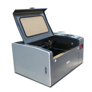 50w Co2 Laser Engraving Cutting Machine 300mm 500mm With Rotary Free Shipping