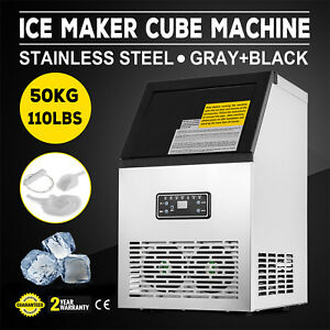 Stainless Steel Commercial Ice Maker 32 Cases Ice Machine Heat Insulation