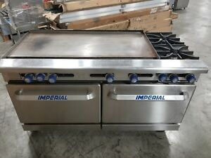 Imperial Ir 2 g48 Two Burner Range W 48 Griddle