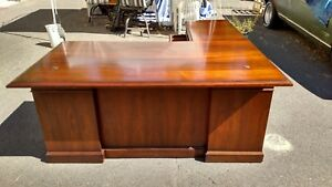 vintage L Shaped Desks Walnut Left right Returns Lots Of Detailwedeliverlocally
