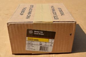 Ge Tqd32100wl 100amp 3pole Circuit Breaker New In Box