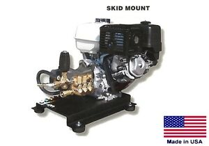 Pressure Washer Commercial Skid Mounted 4 Gpm 4000 Psi 13 Hp Honda Cat