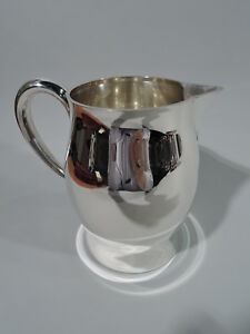 Tiffany Water Pitcher Midcentury Modern American Sterling Silver
