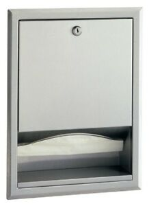 Bobrick B 35903 Stainless Steel Recessed Paper Towel Dispenser Multi fold Or