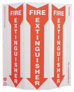 Zing Fire Extinguisher Sign 12 X 9in Wht r 4052g