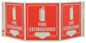 Zing Fire Extinguisher Sign 7 1 2 X 20in 3052g