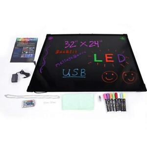 Illuminated Led Message Board For Writing Drawing Erasable Flashing 8pcs Colors