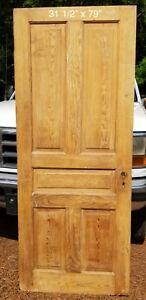 Antique Vintage 5 Panel Wood Door Early 1900 S 32 X 79