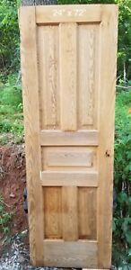Antique Vintage 5 Panel Wood Closet Door Early 1900 S 24 X 72