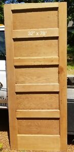 Antique Vintage 5 Panel Wood Bedroom Door Early 1920 S 32 X 78
