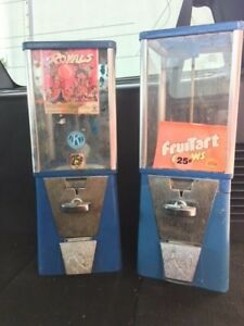 Restore Two 2 Bulk Vending Machines Gumball Candy Toy Nut Oak A a Eagle