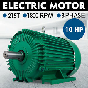 10hp Three Phase Electric Compressor Motor 215t Frame 1800 Rpm 230 Volt