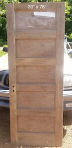 30 X 78 Flat 5 Panel Pine Bedroom Door