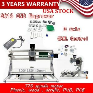 3 Axis 3018 Cnc Router Grbl Laser Machine Kit 3d Engraver Pcb Milling Machine