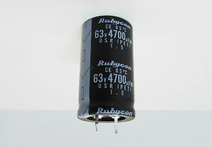 Rubycon Usr Series 4 700uf 63v Snap in Electrolytic Capacitor Box Of 100