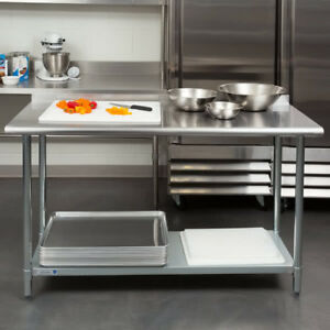 New Commercial 24 X 60 Stainless Steel Work Prep Table