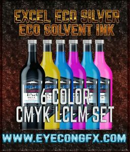 Cmyk Lc Lm Set Standard Quality Eco Solvent Ink Mutoh mimaki Roland etc