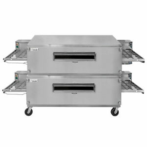 Lincoln 3255 2 Nat Gas Impinger Double Convyeor Oven Package 55 Baking Chamber