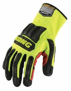 Kong General Utility High Visibility Rigger Gloves Synthetic Leather pvc Palm