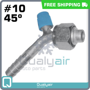 Beadlock Ac Fittings Female O Ring 10x45 Degree With Service Port