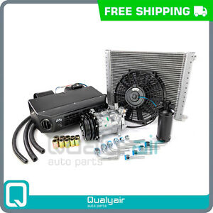 Brand New Ac Kit Universal Under Dash Compressor Kit Air Conditioner 12v