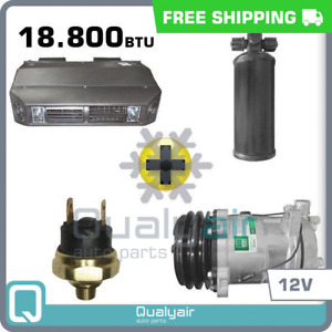 New Ac Kit Universal Dash Compressor Drier P Switch Kit Air Conditioner 12v