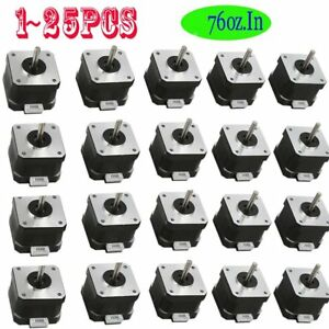 Lot 1 25p Nema 17 Stepper Motor 5 5kg cm 76 Oz in 4 lead For 3d Printer cnc Gd
