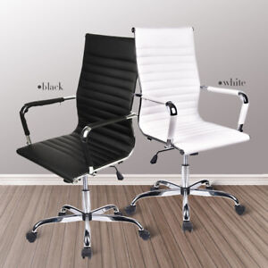 High Back Pu Leather Office Chair Computer Task Ergonomic Swivel Adjustable Race