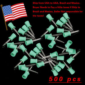 500pcs Dental Prophy Brush Cup Polishing Cups Polisher Disposable Rubber Latch G