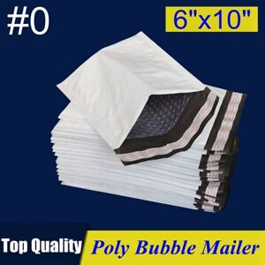 0 6x10 6x9 Poly Bubble Mailer Padded Envelope Shipping Bag 25 50 100 250 Pcs