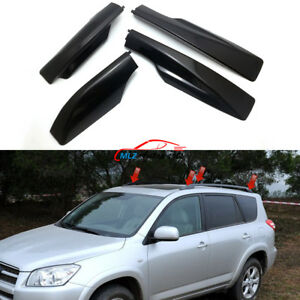 Black For Toyota Rav4 Xa30 2006 2012 Roof Rack Cover Rail End Shell Replacement