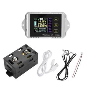 Wireless Lcd Digital Dc 0 400v 0 300a Voltmeter Ammeter Watt Tester Power Meter