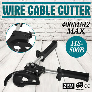 Ratchet Wire Cable Cutter Cut 400mm Carbon Steel Copper Long Lifetime Updated