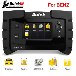 Automotive Obdii Diagnostic Tool Full System Abs Srs Epb Dpf Oil Reset For Benz