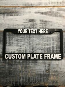 50 Custom License Plate Frames With Your Text Car Truck Free Shipping