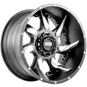 Grid Wheels Gd01 20 10 0 Gloss Graphite milled W chrome Inserts 8 165 1 Off 25