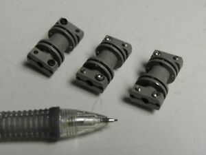 Set Of 3 Miniature Flex Couplings Small Motor And Encoder Use
