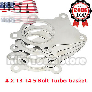 4 X New Mak T3 T4 5 Bolt Stainless Steel Turbo Discharge Gasket A R 63 Flange Us
