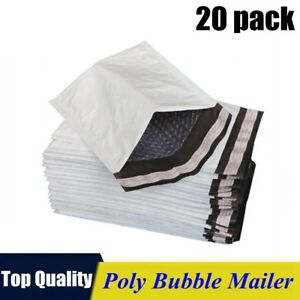20pack 0 6x10 Poly Bubble Mailers Padded Envelope Shipping Supply Bags 6 x10
