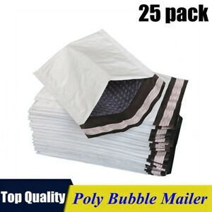 25pack 0 6x10 Poly Bubble Mailers Padded Envelope Shipping Supply Bags 6 x10