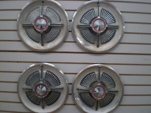 1965 Ford Galaxie 500 Xl Spinner Wheelcover Wheel Covers Hubcaps Oem Set 65