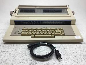 Xerox 6010 Memorywriter Electric Typewriter Tested Working key Press Is Soft