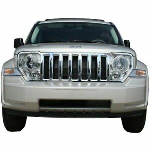 Free Shipping 2008 2012 Jeep Liberty Chrome Grille Overlay 55