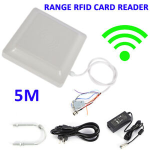 5m Uhf Rfid Long Range Card Reader Wiegand 8dbi Parking System Access Control Us