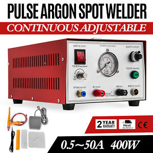 New Pulse Argon Protection Spot Welder 400w Jewelry Gold Silver Platinum