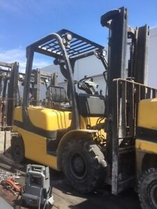2013 Yale 5 000 Lbs Forklift Pneumatic Tire Type Gdp50 Diesel Engine
