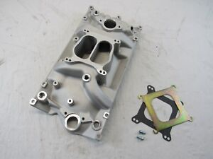 Small Block Chevy 350 Holeshot Vortec Intake Manifold Satin